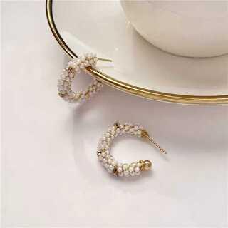 URBAN RESEARCH - #566 import pierce : vitage C pearl gold