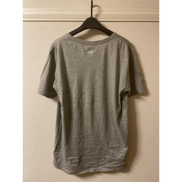 glamb(グラム)のグラム glamb Tシャツ カットソー 半袖 丸首 プリント 杢 グレー 4 メンズのトップス(Tシャツ/カットソー(半袖/袖なし))の商品写真