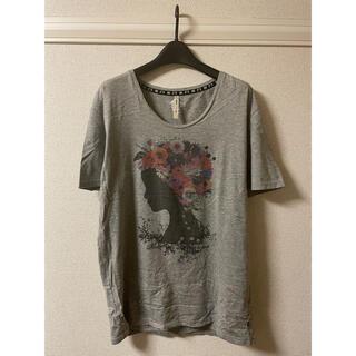glamb - グラム glamb Tシャツ カットソー 半袖 丸首 プリント 杢 グレー 4