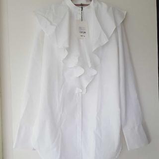 DEUXIEME CLASSE - TOTEME ラッフルコットン ポプリンシャツ Sサイズ