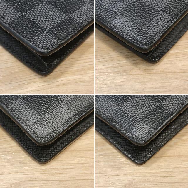 LOUIS VUITTON(ルイヴィトン)の訳あり ルイヴィトン ダミエ グラフィット 二つ折り 長財布 新型 イニシャル メンズのファッション小物(長財布)の商品写真