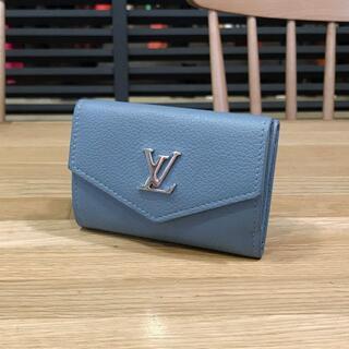 LOUIS VUITTON - 美品 ルイヴィトン コンパクト財布 ポルトフォイユ ロックミニ ブルーエ 水色
