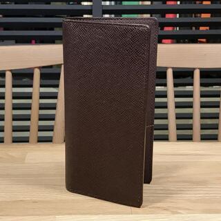 LOUIS VUITTON - 美品 ルイヴィトン タイガ 2つ折り 長財布 ブラウン 茶色 ブラザ 新型