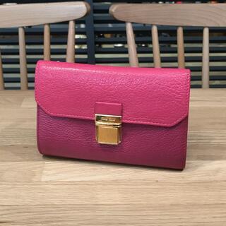 miumiu - 良品 ミュウミュウ コンパクト財布 三つ折り財布 ピンク バイカラー