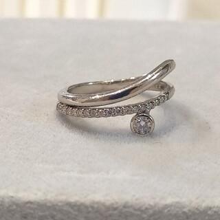 プラチナ デザイン ダイヤモンド リング
