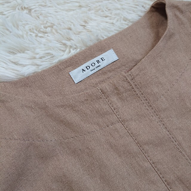 ADORE(アドーア)の美品!アドーア コットンリネン スプリングコート S レディースのジャケット/アウター(スプリングコート)の商品写真