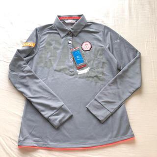 ミズノ(MIZUNO)の新品ミズノ2019年ゴルフウェアブレスサーモ長袖TシャツX Lグレー(ウエア)