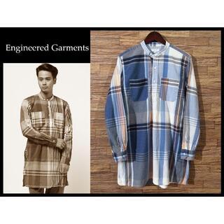 エンジニアードガーメンツ(Engineered Garments)のエンジニアドガーメンツ 16SS バンドカラー ロング チェック シャツ S(シャツ)