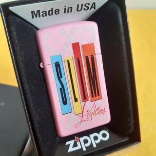 ジッポー(ZIPPO)のzippoジッポ未使用新品ピンクスリム(タバコグッズ)