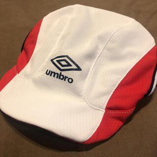 アンブロ(UMBRO)の美品 52センチ アンブロ サッカー キャップ キッズ フットサル 調整(帽子)