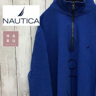 ノーティカ(NAUTICA)のノーティカ NAUTICA ハーフジップ スウェット トレーナー ビック ブルー(スウェット)