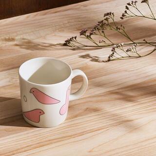 mina perhonen - 限定 イッタラ ミナペルホネン マグカップ バード ピンク