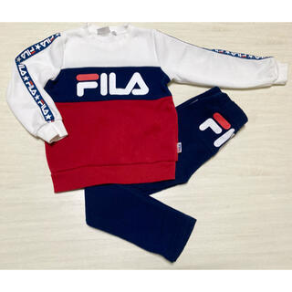 FILA - fila フィラ オシャレ 130 上下 セット スウェット ジャージ