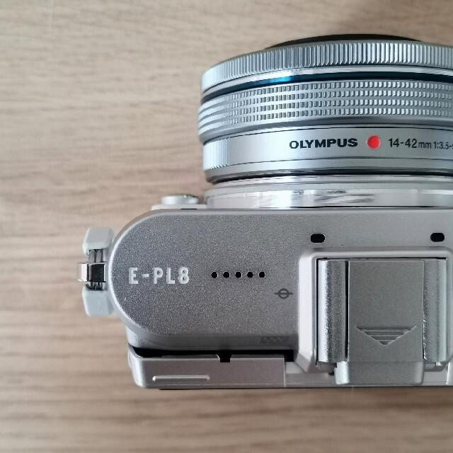 OLYMPUS(オリンパス)のOLYMPUS ミラーレス一眼 E-PL8 EZレンズセット WHITE スマホ/家電/カメラのカメラ(ミラーレス一眼)の商品写真