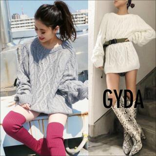 GYDA - GYDA ケーブル ローゲージ ニット トップス♡エゴイスト ムルーア マウジー