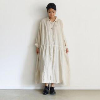 ichiAntiquités リネンシャツドレス / クリーム