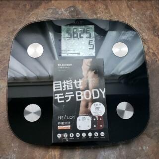 エレコム(ELECOM)のELECOM HCS-FS01BK 体組成計FS01シリーズ/ ブラック(体重計/体脂肪計)