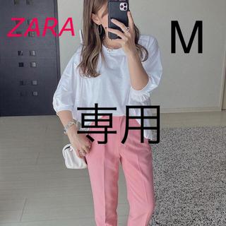 ザラ(ZARA)の新品 ZARA  アシンメトリーオーバーサイズ ホワイト M(Tシャツ(長袖/七分))