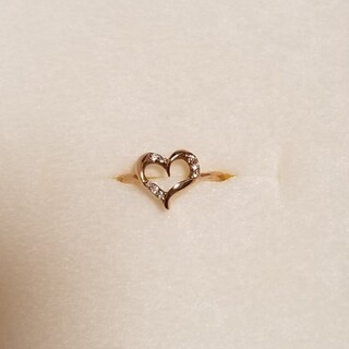 サマンサティアラ(Samantha Tiara)の新品 サマンサティアラ 18金 ダイアモンド ハートリング ピンクゴールド(リング(指輪))