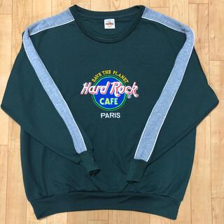 【希少】ハードロックカフェ スウェット トレーナー  刺繍 USA製