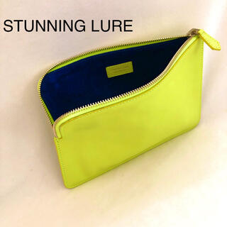 STUNNING LURE - STUNNING LURE スタニングルアー ポーチ クラッチ バッグ 黄色