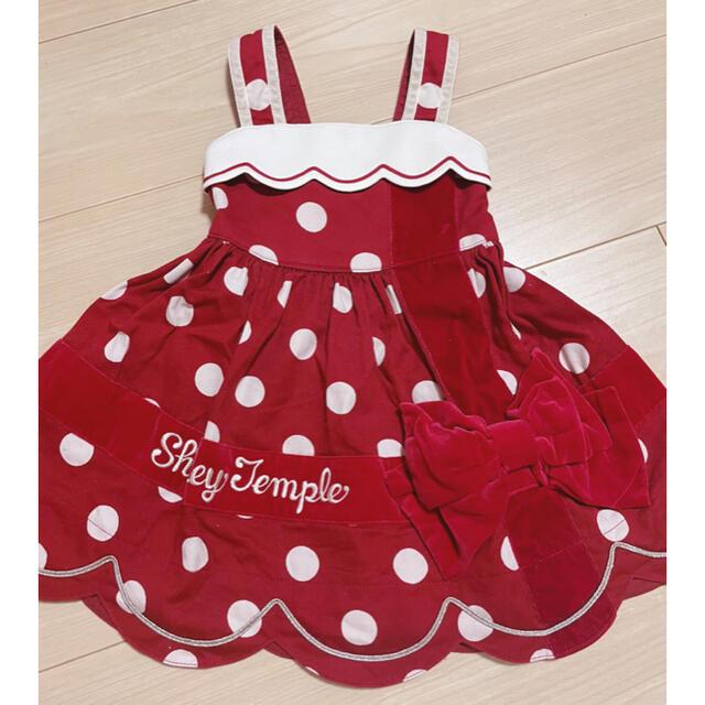Shirley Temple(シャーリーテンプル)のシャーリーテンプル ラッピング ワンピース キッズ/ベビー/マタニティのキッズ服女の子用(90cm~)(ワンピース)の商品写真