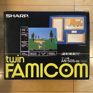 シャープ(SHARP)のツイン ファミコン (SHARP twin FAmIcom AN-505BK)(家庭用ゲーム機本体)