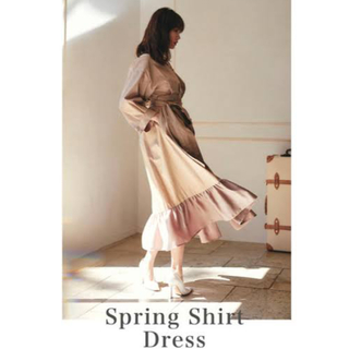 snidel - her lip to spring shirt dress