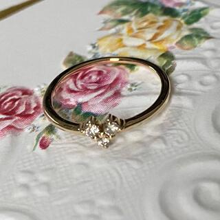 サマンサティアラ(Samantha Tiara)のK10YG ダイヤモンド ピンキーリング #3(リング(指輪))