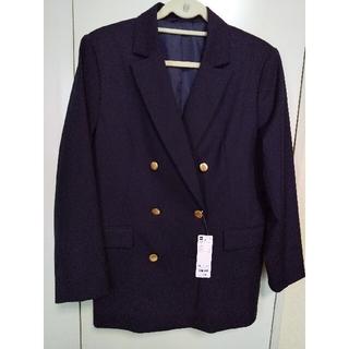 ジーユー(GU)のguダブルブレストブレザー今季ネイビー完売品XL(テーラードジャケット)
