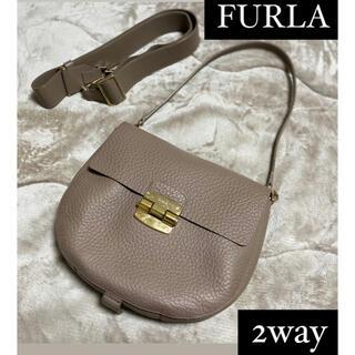 Furla - FURLA フルラ ショルダーバッグ ハンドバッグ 2way グレージュ