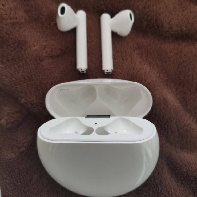 HUAWEI(ファーウェイ)の美品 HUAWEI ノイズキャンセリングワイヤレスイヤホン FREEBUDS3 スマホ/家電/カメラのオーディオ機器(ヘッドフォン/イヤフォン)の商品写真