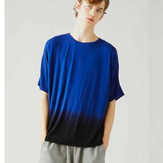 ジョンブル(JOHNBULL)のジョンブル ダイイングハーフスリーブTシャツ ブルー Mサイズ 半袖カットソー(Tシャツ/カットソー(半袖/袖なし))
