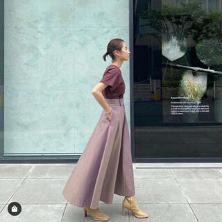 Ameri VINTAGE - CLANE シャンブレー サークル スカート  パープル 新品未使用