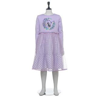 ANNA SUI mini - ♡ANNA SUI mini♡ ネコTシャツ×ギンガムチュールスカートワンピース