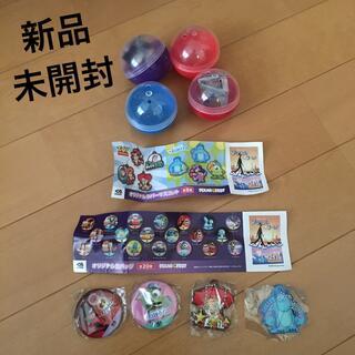 トイ・ストーリー - くら寿司 ビッくらポン!ピクサー オリジナル 缶バッジとラバーマスコット  4点