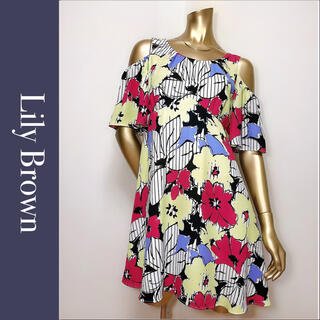 Lily Brown - Lily Brown フラワー オフショルダー ワンピース♡deicy ミーア