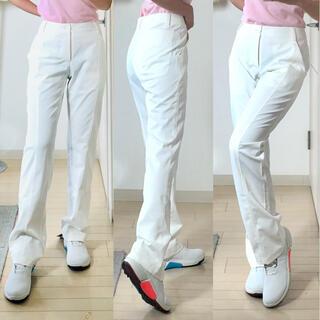 ミズノ(MIZUNO)の新品 ミズノ 動きやすいゴルフウェアパンツレディース白ホワイト M(ウエア)