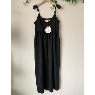 ラグナムーン(LagunaMoon)のkaene ドレス キャミワンピース 黒(ひざ丈ワンピース)