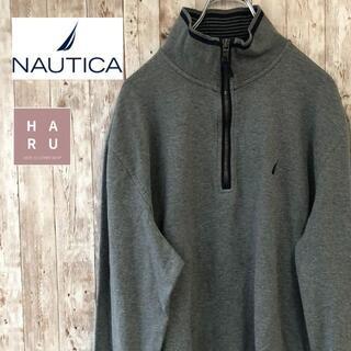 ノーティカ(NAUTICA)の美品☆ノーティカ ハーフジップトレーナー グレー(スウェット)