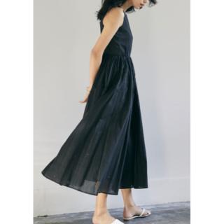 ドゥーズィエムクラス(DEUXIEME CLASSE)の新品タグ付 MARIHA「夏のレディのドレス」ブラック 38(ロングワンピース/マキシワンピース)