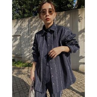 Ameri VINTAGE - 新品タグ付き  アメリヴィンテージ ニードルパンチ デニムシャツ ジャケット