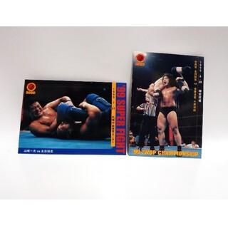 バンダイ(BANDAI)のBANDAI 新日本プロレス カード 2枚(格闘技/プロレス)