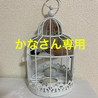 ザラホーム(ZARA HOME)のZARA HOME 鳥かご風キャンドルホルダー(インテリア雑貨)