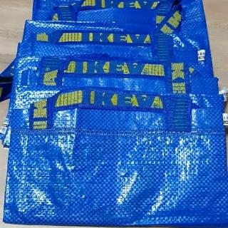 IKEA - お買い得 IKEA イケア フラクタ ブルーバック エコバッグ Lサイズ4枚