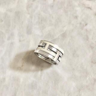 Hermes - 正規品 エルメス 指輪 ムーブアッシュ シルバー アイボリー 925 リング 2