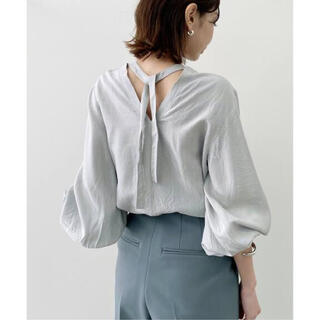 L'Appartement DEUXIEME CLASSE - アパルトモン C/N Gahter Blouse ギャザーブラウス グレー