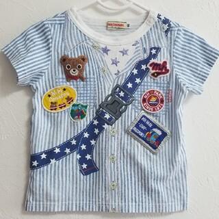 mikihouse - ミキハウス だまし絵Tシャツ