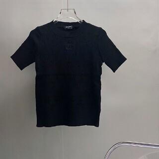 CHANEL - CHANEL シャネル CCロゴ トップス セーター ブラック