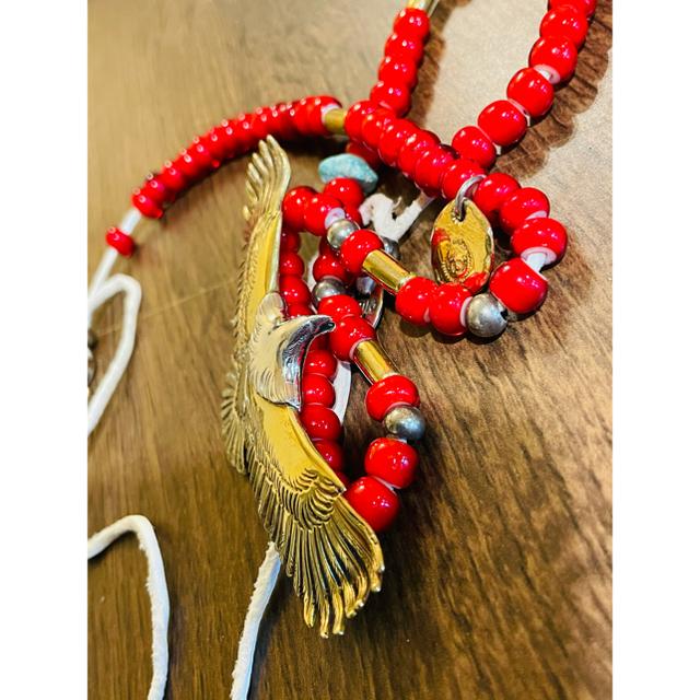 goro's(ゴローズ)のゴローズ 全金頭プラチナ大イーグルホワイトハーツセット組み メンズのアクセサリー(ネックレス)の商品写真